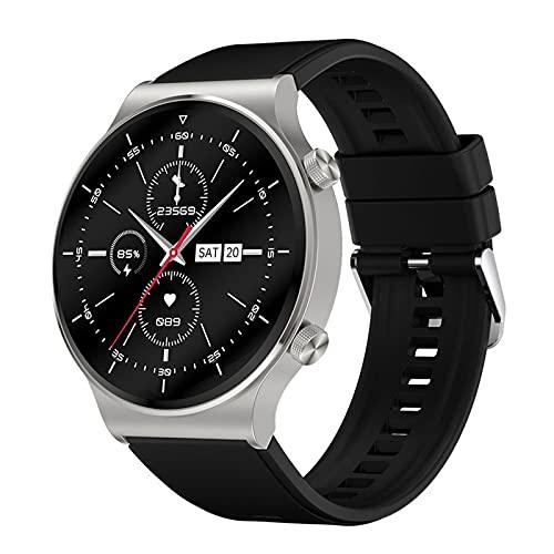 Rvlaugoaa Bluetooth Smart Watch 1.3 Pulgadas Full Touch Pulsera Inteligente Podómetro Salud Fitness Tracker Pulsera Deportiva IP68 Reloj Inteligente A Prueba De Agua para Teléfonos Android iOS,F