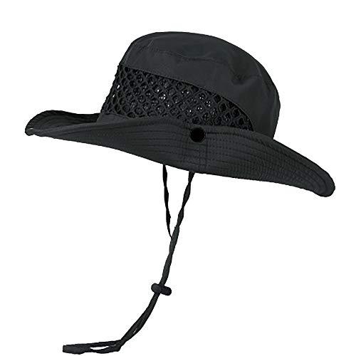 Watenkliy Sonnenhut, Hut Fischerhut Sommer Wanderhut mit Kinnband Erwachsene Outdoor UV Schutz, Faltbar Atmungsaktiv für Herren Damen