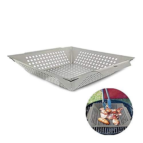 HKYMBM Grill Korb, Non-Stick Grillkorb - Für Grillen Barbecue Gemüse Fisch Stir Fry Meeresfrüchte Pizza Oder Veggies