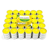 H HANSEL HOME Velas de Té Citronela Tealight Citronela Perfumada Antimosquitos Velas Citronela - Pack 90 Velas, 4 Horas de combustión