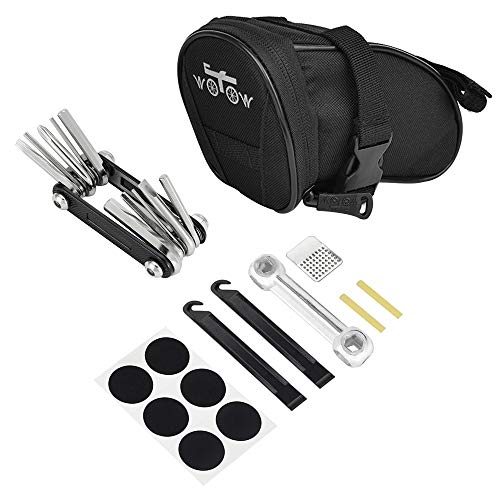 WOTOW Bike Repair Tool Kits Saddle Bag Bicycle Repair Set with Cycling Under Seat Packs 14 in 1...