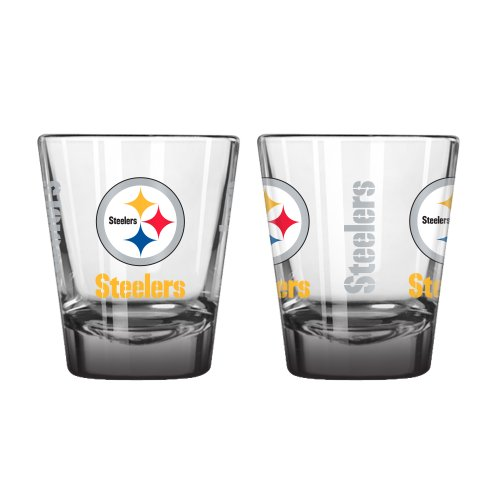 Boelter Brands NFL Pittsburgh Steelers Elite Shot Glass, 2-Ounce, 2-Pack
