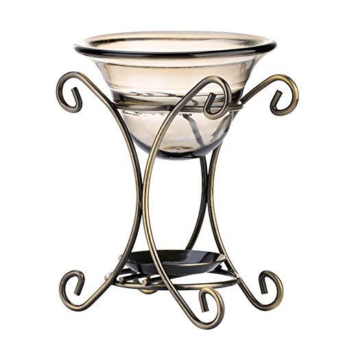 Bruciatore a olio aromatico di ferro, Bruciatore a candela per forno Lampada a olio essenziale per aromaterapia per soggiorno Camera da letto Hotel Ristorante Ufficio(01)