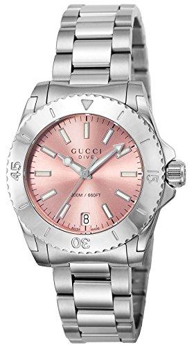 [グッチ] 腕時計 DIVE ピンク文字盤 YA136401 並行輸入品 シルバー