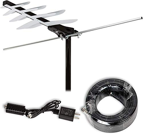 LAVA [Newest 2021] HD-250 Amplified Digital TV Antenna - Support 4K 1080P HDTV Fire TV Stick and All TVs with Powerful Amplifier Signal Booster & 45 FT RG6 Coax Cable Title. Buy it now for 35.99