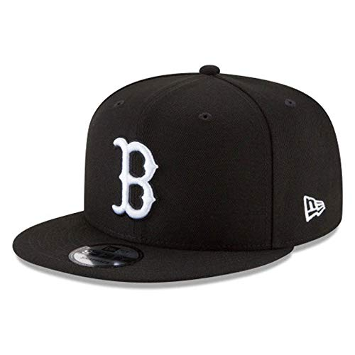 New Era Authentic Boston Redsox Black & White 9Fifty Snapback Cap Adjustable 950