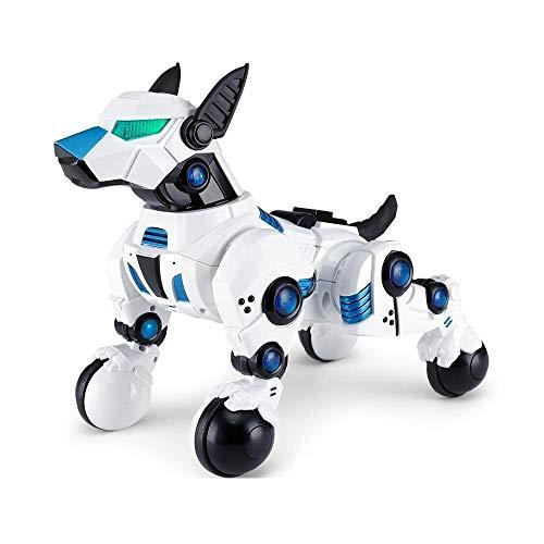 ADLIN Das elektronische Haustier, Roboter-Hund-Spielzeug, haben Follow-Up-Funktion, singen und tanzen for elektronische Roboter-Hund Haustier Spielzeug Smart Kids Interactive Gehschall Welpe mit LED-L