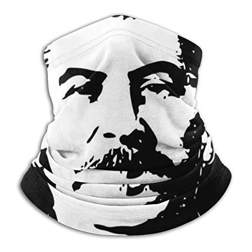 Stalin schwarz und weiß Gesichtsmaske staubdicht Kopfbedeckung Bandanas Sturmhaube für Radfahren, Laufen, Wandern