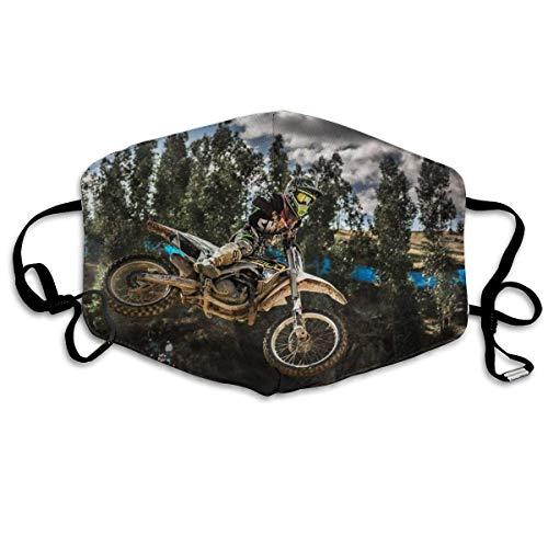 Multifunktionale Gesichtsschutzhülle,Motocross Sport Motorrad Fahrzeug Gedruckt Unisex Waschbar Wiederverwendbare Gesichtsdekorationen Für Den Persönlichen Schutz