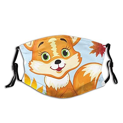 Lindo Fox Bandanas protege las decoraciones faciales al aire libre a prueba de viento