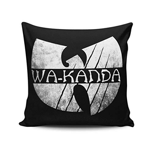 KRISMARIO Funda de Almohada Cojín Moda Impresa Felpa Tela Cuadrado Sofá Cama 18 X 18 Pulgadas Enter The Wu-Kanda