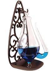 Esschert gjutjärnsfäste glasbarometer, transpartent, 13,9 x 12 x 27,7 cm