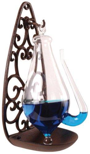 Esschert Gußeisenhalterung Glasbarometer, transpartent, 13,9 x 12 x 27,7 cm