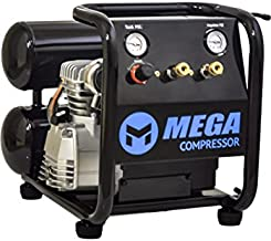 MP-2504T Megapower 4.0 gallon Twin Stack Air Compressor with Panel