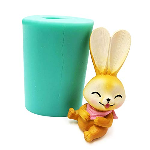 Tjian 3D-Osterhasen-Silikonform für Seife, Epoxidharz, Kuchen, Schokolade, Dekoration, Kinder, Ostergeschenk