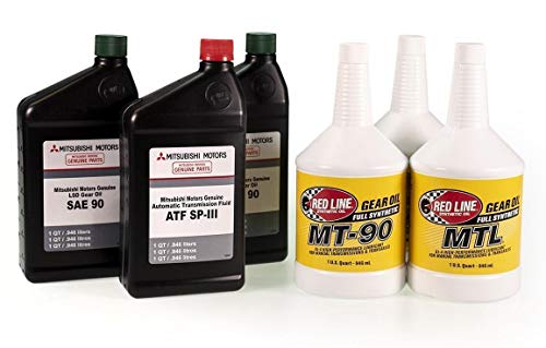 MAPerformance Drivetrain Fluids Package ATF SP/GLD Gear Oil Compatible with 2008-2015 Mitsubishi Evo X