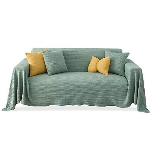 PETCUTE Funda Sofa Foulard Multiusos Colcha Multiusos Sofa Plaid para Cama Comoda Practica y Suave Cubre Sofas Tela Verde 180X230CM