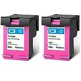 SXCD Cartucho de Tinta 662XL, reemplazo de Alto Rendimiento para HP DeskJet Tinta Advantage 1014 1015 1515 1516 2548 3548 4518 Impresora de Tinta Cartuchos de Tinta Negra 2 Tri-Color