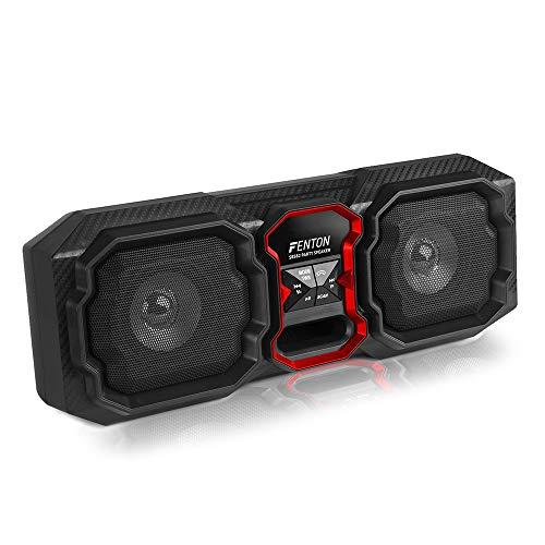 Fenton SBS82 Altavoz Bluetooth portátil de 80 W con función de Llamada, Reproductor MP3 y Entrada AUX