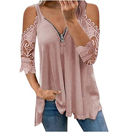 Camiseta de manga larga con hombros descubiertos, suéter para mujer, túnica, blusa,...