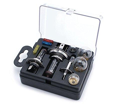 Xtremeauto, universales Ersatz-Leuchtmittel-Set mit H1,H4 undH7Lampen und Sicherungen, inkl. Aufkleber