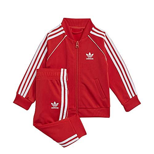 adidas SST Tracksuit, Red/White, 0-3 Meses Unisex-Child