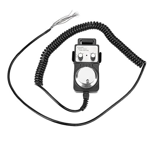 Herramienta electrónica del pulso del volante Generador colgante volante 5V CNC de la máquina con la base del sostenedor herramientas industriales Negro