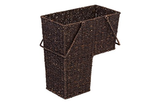 Trademark Innovations 14' Wicker Storage Stair Basket with Handles (Brown)