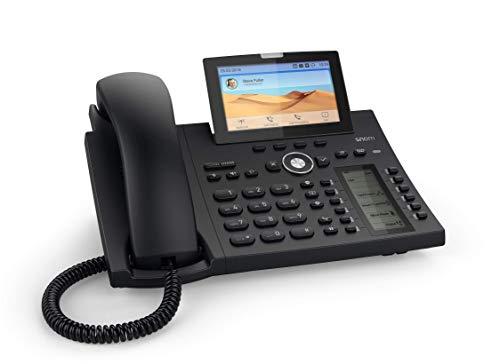 Snom D385 IP Telefon, SIP Tischtelefon Farbe + SmartScreen, 12 SIP-Identitäten, Sensorhakenschalter, Bluetooth, USB, 48 selbstbeschriftende Schlüssel (12 physische), Schwarz, 00004340