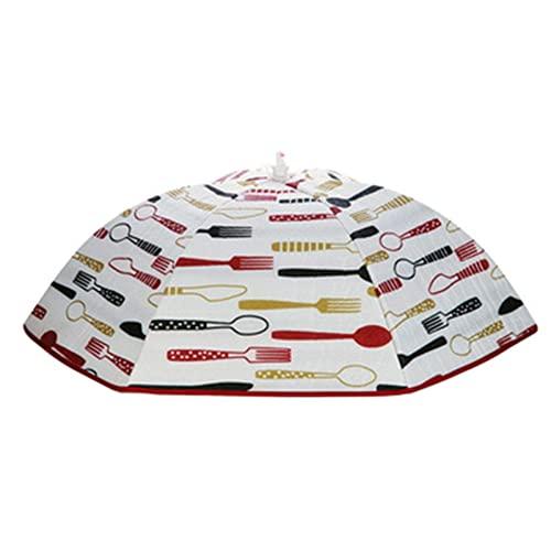 DAGUAI Hermosa cubierta de la tapa del jardín de la cubierta de la tapa de la fruta BBQ 1 0pcs Tabla plegable cubierta de paraguas Pop- Up Malla Pantalla de malla Tienda Cubiertas de picnic reutiliza