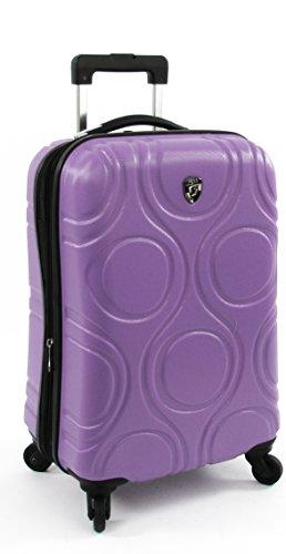 Koffer, Reisegepäck, Trolley by Heys - Premium Designer Hartschalen Koffer - Core Eco Orbis Lila Handgepäck