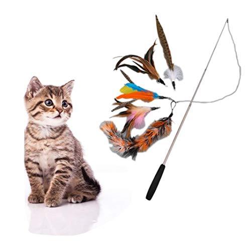 POPETPOP 4Pcs Realstic Mouse Cat Toy con Spring Furry Cat Toys Juguetes para Gatos Gatito Mascotas