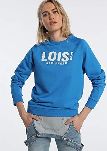 LOIS JEANS |Sudadera Mujer|Ropa Original para ti o para Regalar|Nueva colección con diseños Casual|algodón|de Color Azul|Talla-Inch XL|118011