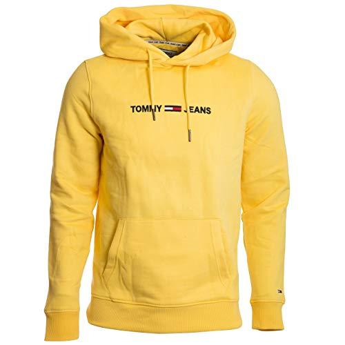 Tommy Jeans Herren TJM Straight Logo Hoodie Sportsweatshirt, Gelb (Aspen Gold ZAG), XX-Large (Herstellergröße:XXL)