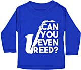 Hippowarehouse Can You Even Reed? Saxophone Baby Unisex t-Shirt Long Sleeve Royal Blue
