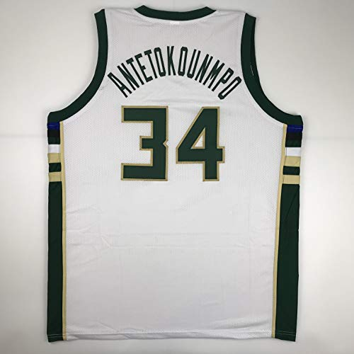 Unsigned Giannis Antetokounmpo Milwaukee White Custom Stitched Basketball Jersey Size Men's XL New No Brands/Logos