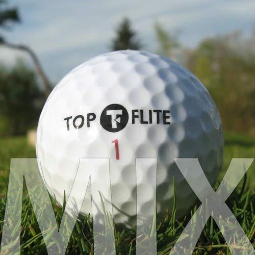 Easy Lakeballs 100 Top-FLITE Mix Pelotas DE Golf RECUPERADAS/Lake Balls - Calidad AAAA/AAA (Pearl/A Grade) - EN Bolsa DE Red