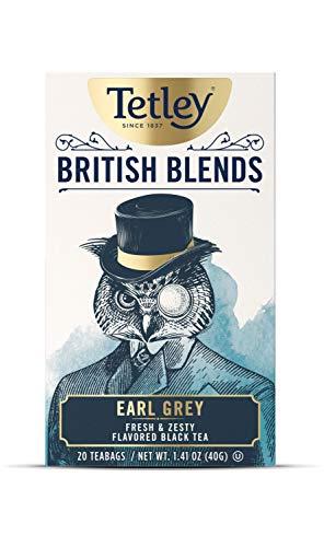 Tetley British Blends, Earl Grey, Fresh & Zesty Black Tea, 20 Count Tea Bags