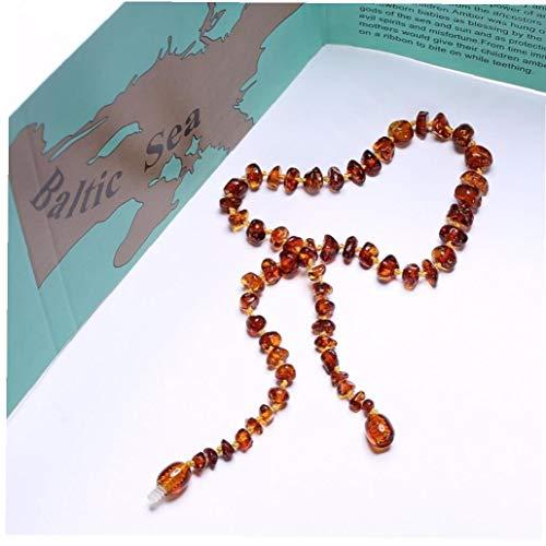 xiaocheng La Dentición Collar De Ámbar Báltico/Pulsera para - Caja De Regalo - 5 Tamaños - 4 Colores - Nave De Los Estados Unidos Y Reino Unido Y Precioso Regalo De La UA Y Cn