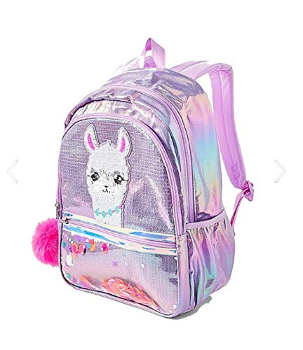 Justice sparkle bling tote LLAMA LAMA SEQUENCE BACKPACK tote back to school bag