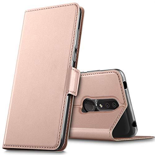 GEEMAI für Nokia 4.2 Hülle, handyhüllen Flip Hülle Wallet Stylish mit Standfunktion & Magnetisch PU Tasche Schutzhülle passt für Nokia 4.2 Smartphone, Rosegold