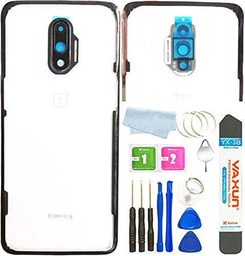 BSDTECH Battery Back Cover Rear Panel Glass +Camera Lens for Oneplus 7 6.41