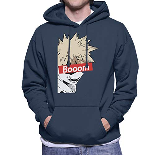 Cloud City 7 Bakugou Boom Skate Brand My Hero Academia Men's Hooded Sweatshirt