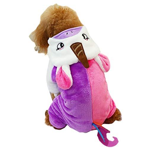Cani Felpe con Cappuccio Tuta Vestiti per Animali Domestici Cappotto Caldo e Carino Giacca Pullover Flanella Morbido Cucciolo Maglione Capispalla Costume di Carnevale