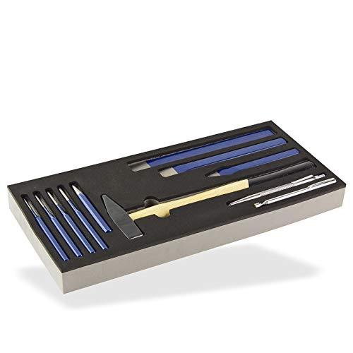 ADB Werkstattwagen Schubladen Werkzeug Einlage Hammer & Meißel Set 11-teilig