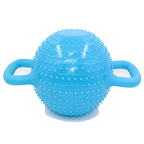 LAOBAN Pesa rusa de peso ajustable para mujer, yoga, inflado con agua, 4/6/8/10/5,4 kg, masaje de moldeo de pilates con doble asa de inyección, tanque de agua, sentadillas portátiles (azul)