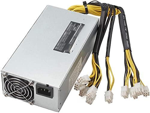 95% d'efficacité 1800W ATX Bitcoin Miner Ethereum Mining alimentatore PC 8 schede grafiche APW7 Alimentation à découpage Compatible avec AntMiner Bitmain PSU Supply pour S9D9T9Z9L3 ++