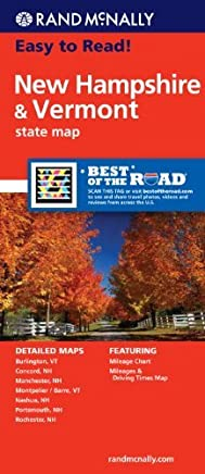 Easy To Read: New Hampshire, Vermont (Rand McNally Easy to Read!) by Rand McNally(2016-10-13)