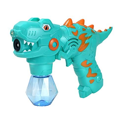 TOYANDONA Dinosaurier Blase Maker Kinder Blase Blasen Maschine Spielzeug Strand Spielzeug Party Favor Geschenke für Bad Spiel Outdoor Aktivität Keine Batterie Grün