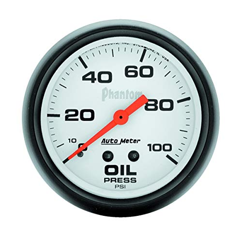 "Autometer 5821 2-5/8"" OIL PRESS, 0-100 PSI, MECH, PHANTOM"